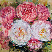 Картины и панно handmade. Livemaster - original item Oil painting on canvas. Peonies. Flowers.. Handmade.