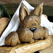 Подарки к праздникам ручной работы. Ярмарка Мастеров - ручная работа Собака салфетница в подарок собаководу на новый год. Handmade.