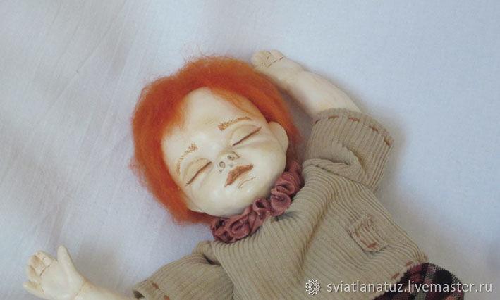 Мишки Тедди ручной работы. Ярмарка Мастеров - ручная работа. Купить Стасик. Авторская интерьерная кукла. Handmade. Коллекционная кукла