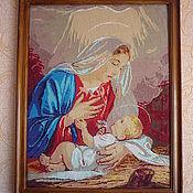 """Картины и панно ручной работы. Ярмарка Мастеров - ручная работа Вышитая картина """" Святая Мария"""". Handmade."""