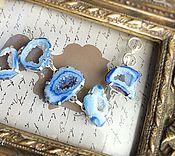 handmade. Livemaster - original item Cuff bracelet: Bracelet of pale blue agate Druze. Handmade.