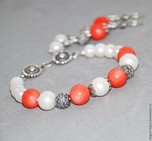 браслет серебряный; браслет с жемчугом; браслет с кораллом; купить серебряный браслет; купить серебряный комплект; купить браслет в подарок