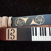 Аксессуары handmade. Livemaster - original item MUSIC, leather strap. Handmade.