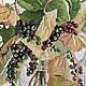 Картины цветов ручной работы. Дикий виноград  Fujico, вышитая картина. Светлана Лузина (bestpicture). Интернет-магазин Ярмарка Мастеров.