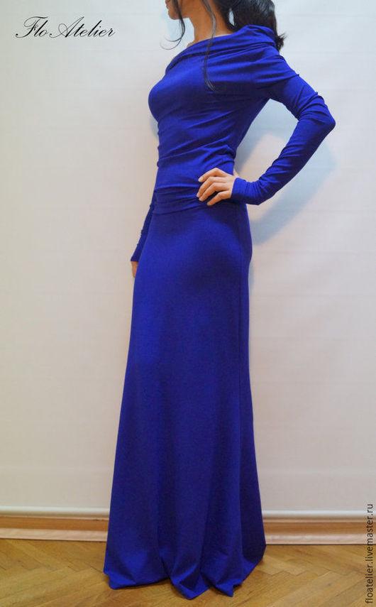 """Платья ручной работы. Ярмарка Мастеров - ручная работа. Купить Платье """"Maxi"""" с длинными рукавами/Элегантное платье F1286. Handmade."""