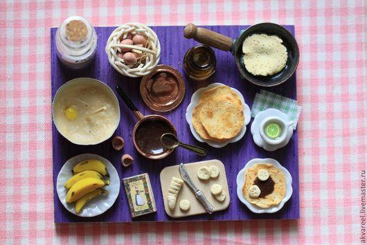Еда ручной работы. Ярмарка Мастеров - ручная работа. Купить Блины с бананами и шоколадом. (серия Книга рецептов). Handmade. Еда
