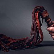 """Портупеи ручной работы. Ярмарка Мастеров - ручная работа Плетка бдсм плеть Флоггер """"Бордо"""". Handmade."""