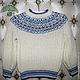 Блузки ручной работы. Ярмарка Мастеров - ручная работа. Купить Пуловер для мальчика. Handmade. Белый, пуловер, детский, детский пуловер