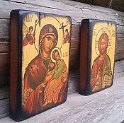 Картины и панно ручной работы. Ярмарка Мастеров - ручная работа Иисус и Богородица Венчальная пара Иконы на дереве. Handmade.