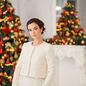 Свадебный салон handmade. Livemaster - original item Bridal jacket, Wedding coat, Winter wedding coat, Bella Cream. Handmade.