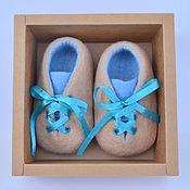 Работы для детей, handmade. Livemaster - original item Booties felted wool