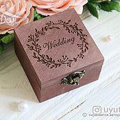 Свадебный салон handmade. Livemaster - original item Wooden box for rings. Handmade.