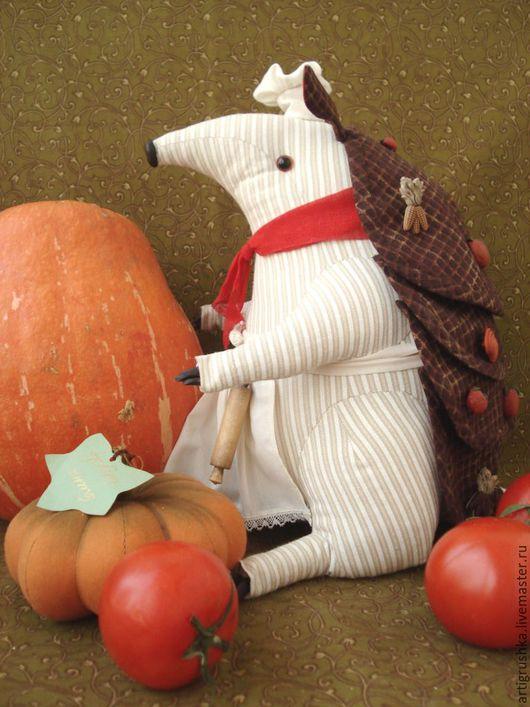 Игрушки животные, ручной работы. Ярмарка Мастеров - ручная работа. Купить Повар Броня. Handmade. Повар, украшение интерьера, текстиль