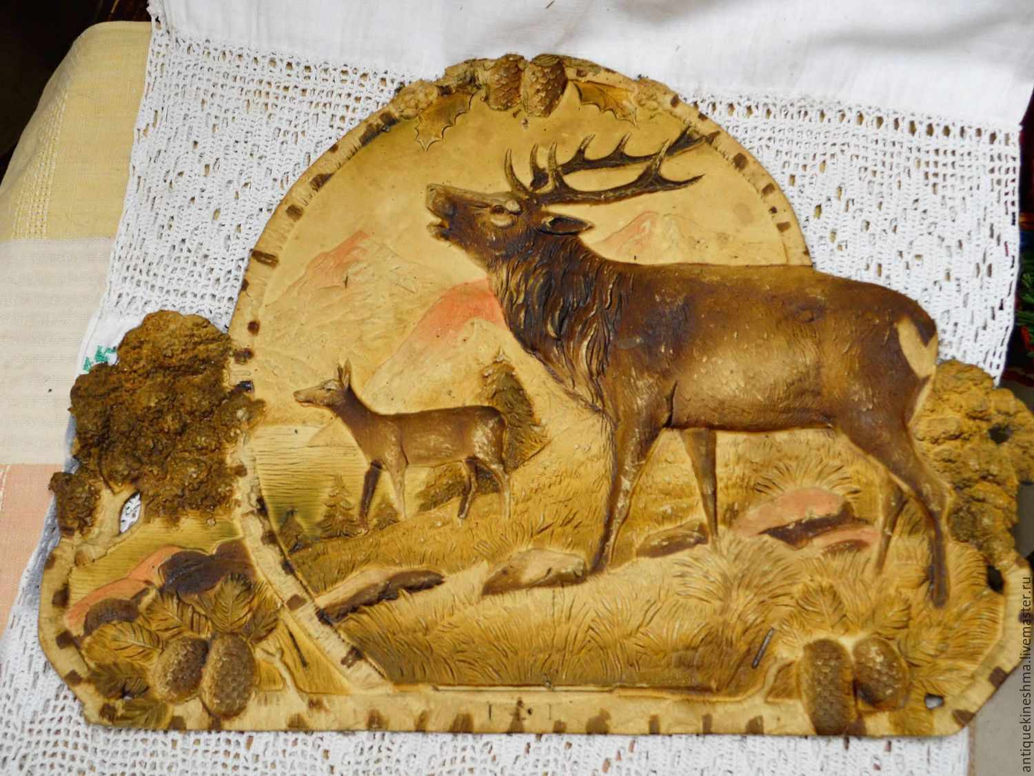 Panels for wall tear-off calendar paper mache 1950s Deer – shop ...