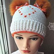 """Работы для детей, ручной работы. Ярмарка Мастеров - ручная работа Комплект для девочки """"Яркий оранж"""". Handmade."""