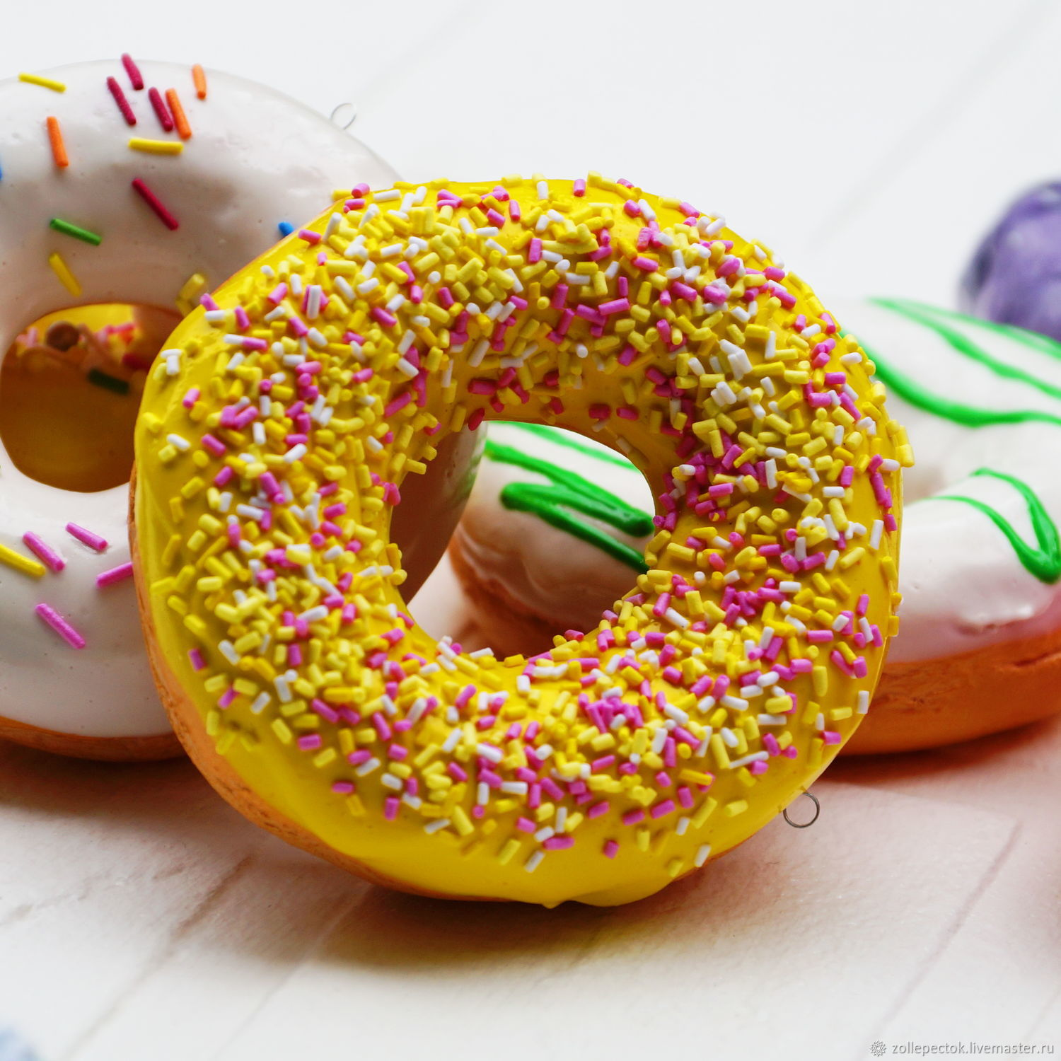 Donuts with icing 20. Dummies, Doll food, Rostov-on-Don,  Фото №1