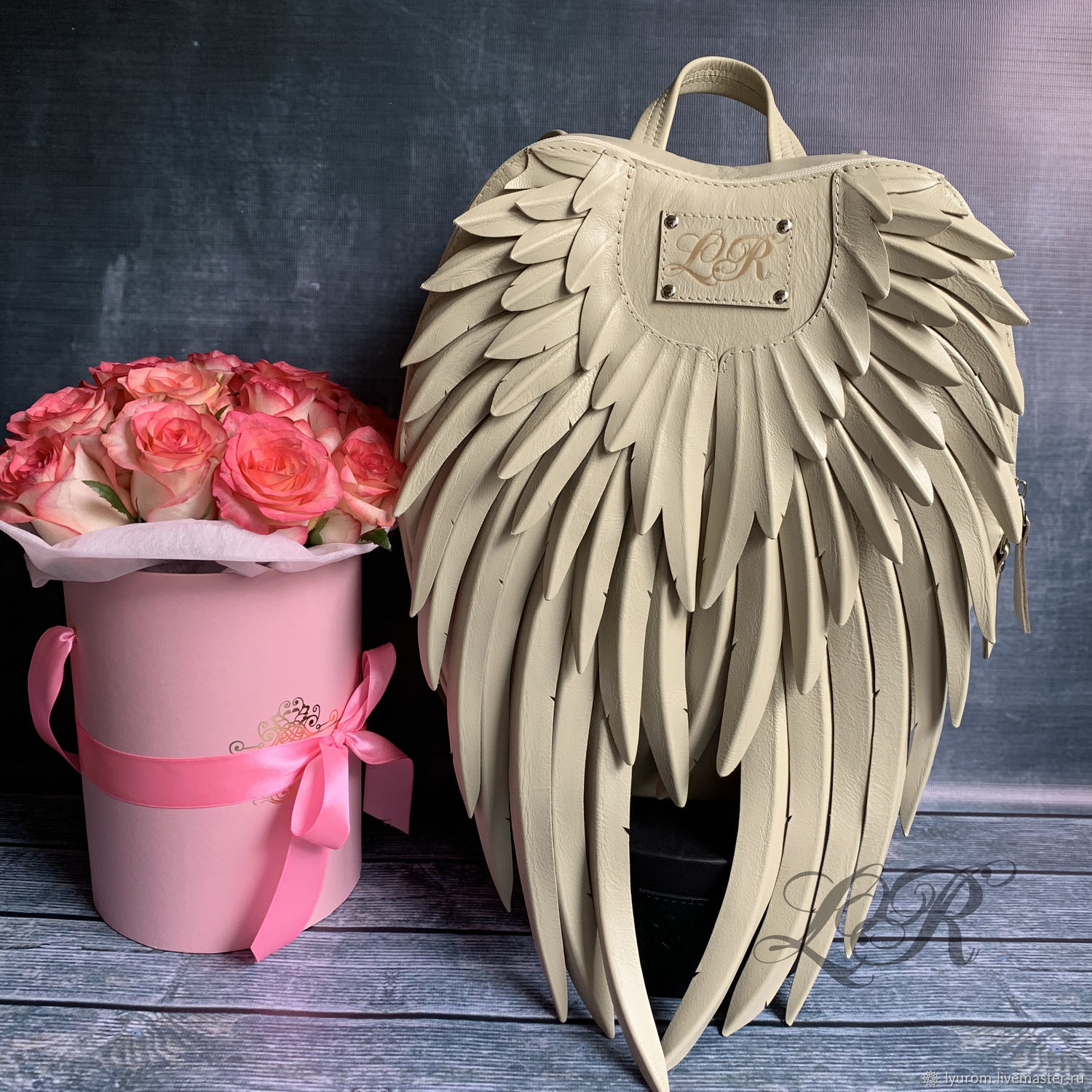Women's leather backpack ' Wings», Backpacks, Moscow,  Фото №1