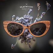 """Аксессуары ручной работы. Ярмарка Мастеров - ручная работа Солнцезащитные очки из дерева. """"Slatwicki"""" . Кошка. Орех американский. Handmade."""