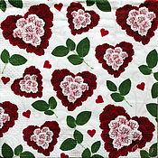 Материалы для творчества handmade. Livemaster - original item Napkins for decoupage floral hearts print. Handmade.
