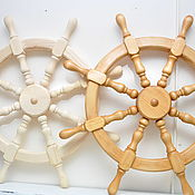 Аксессуары ручной работы. Ярмарка Мастеров - ручная работа Штурвал декоративный большой карабельный, морской стиль, морская тема. Handmade.