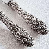 Винтаж ручной работы. Ярмарка Мастеров - ручная работа Сервировочный набор с ручками из серебра, Америка. Handmade.
