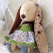 Куклы и игрушки ручной работы. Ярмарка Мастеров - ручная работа Заюшка Паула (скромная). Кофейная зайка в стиле винтаж.. Handmade.