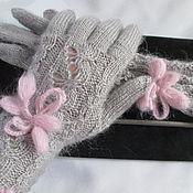Аксессуары ручной работы. Ярмарка Мастеров - ручная работа Повтор работы перчатки зайчик серенький перчатки вязаные шерстяные. Handmade.