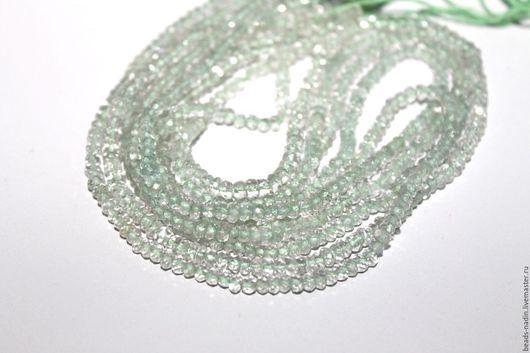 Для украшений ручной работы. Ярмарка Мастеров - ручная работа. Купить Зеленый аметист, нить 34,5см (арт. за93). Handmade.
