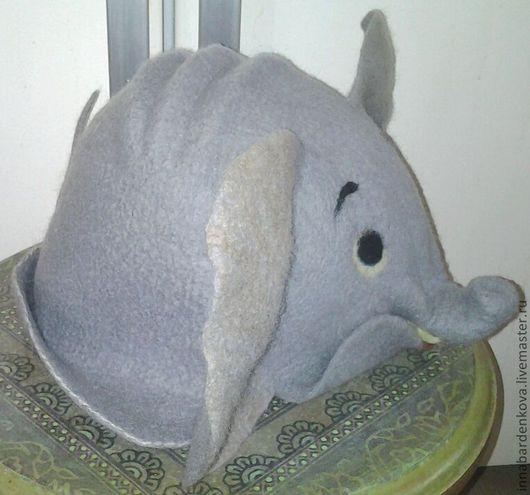"""Банные принадлежности ручной работы. Ярмарка Мастеров - ручная работа. Купить шапка для бани """"Слоник"""". Handmade. Серый, шапка, войлок"""
