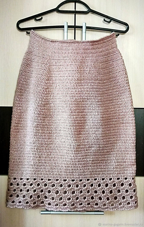 Skirt 'Chic Powdery' Dusty rose Pink Cream Crochet, Skirts, Gagarin,  Фото №1