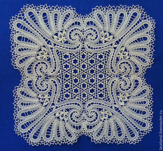 """Текстиль, ковры ручной работы. Ярмарка Мастеров - ручная работа. Купить Салфетка """"Морозко"""". Handmade. Бежевый, кружево на коклюшках"""