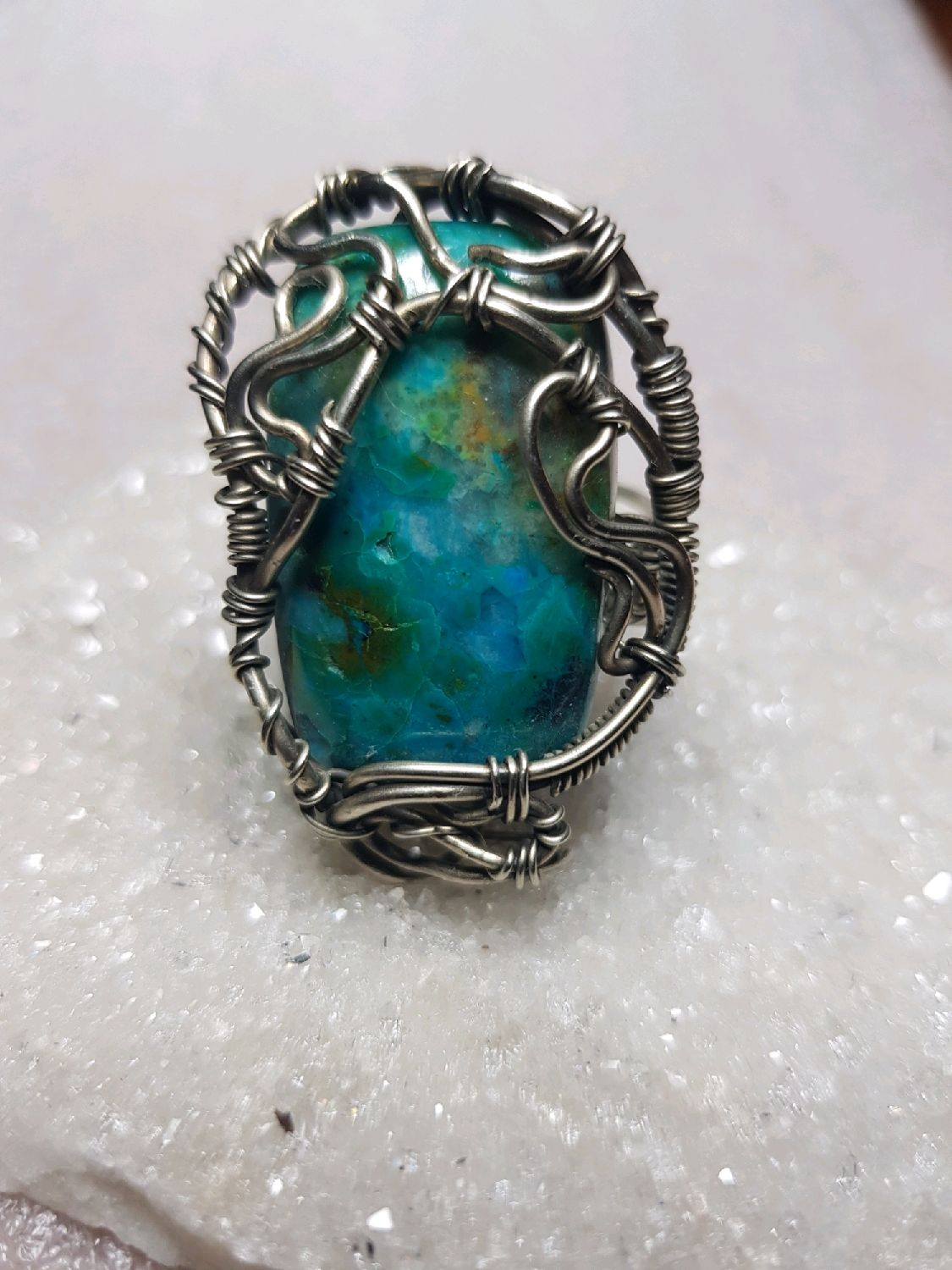 Ring with chrysocolla, Rings, Voronezh,  Фото №1