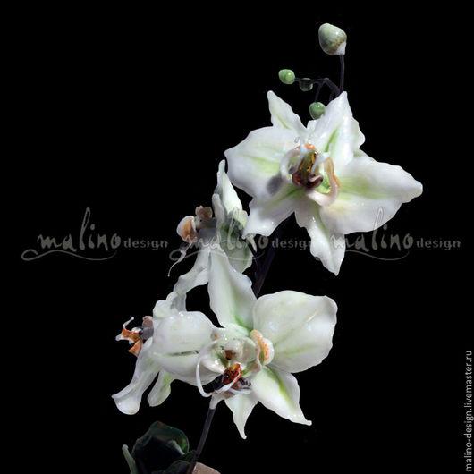 Статуэтки ручной работы. Ярмарка Мастеров - ручная работа. Купить Орхидея Фаленопсис2. Handmade. Белый, подарок на 8 марта