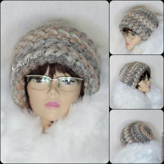 Шапки ручной работы. Ярмарка Мастеров - ручная работа. Купить Шапка вязаная женская теплая, шапка из мохера крючком. Handmade.