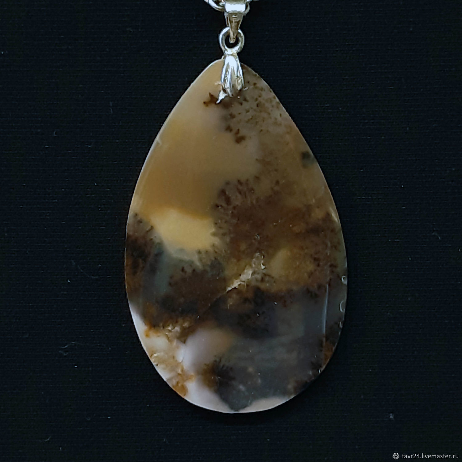 pendant №38. Chalcedony, an agate, agate Moholy, Pendant, St. Petersburg,  Фото №1