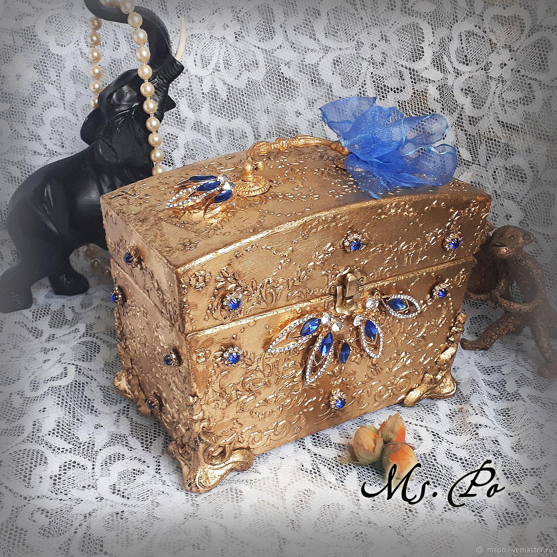 Trinket Boxes handmade. Livemaster - handmade. Buy Cosmetic bag 'Royal casket'.Vintage, style, handmade box, blank