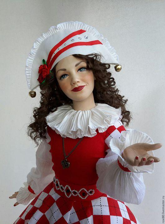 Коллекционные куклы ручной работы. Ярмарка Мастеров - ручная работа. Купить интерьерная авторская кукла Арлет. Handmade. Ярко-красный