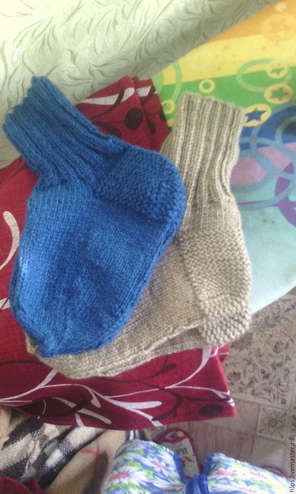 Носки, Чулки ручной работы. Ярмарка Мастеров - ручная работа. Купить носки вязанные  мужские. Handmade. Синий