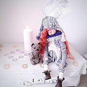 Куклы и пупсы ручной работы. Ярмарка Мастеров - ручная работа Авторская кукла Жужа - клоунесса.. Handmade.
