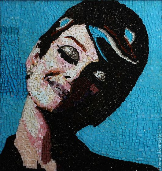 """Декор поверхностей ручной работы. Ярмарка Мастеров - ручная работа. Купить Мозаика """"Одри"""". Handmade. Мозаика из стекла, Одри Хепберн"""