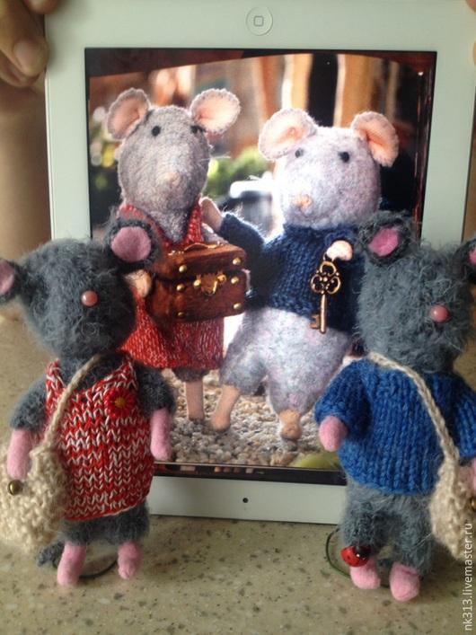 """Игрушки животные, ручной работы. Ярмарка Мастеров - ручная работа. Купить """"Мышкин дом. Самми и Юлия"""". Игрушки. Мышки.. Handmade."""