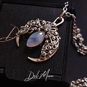 Украшения handmade. Livemaster - original item Moonstone pendant, moonstone melchior