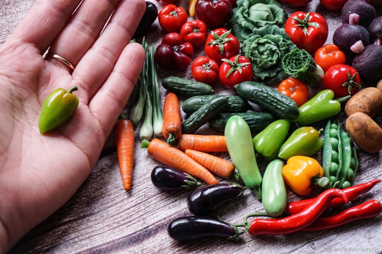 миниатюрные овощи, Кукольная еда, Красногорск,  Фото №1
