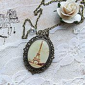 Украшения handmade. Livemaster - original item Vintage Oval Pendant necklace Paris. Handmade.