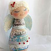 """Для дома и интерьера ручной работы. Ярмарка Мастеров - ручная работа Интерьерная авторская текстильная игрушка """" Снежный ангел"""". Handmade."""