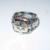Украшения handmade. Livemaster - original item ring: Wind Rose ring with a golden platform. Handmade.