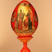 Иконы ручной работы. Ярмарка Мастеров - ручная работа Пасхальное яйцо семейное. Handmade.