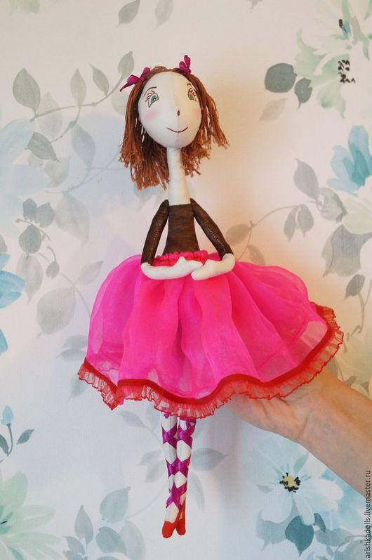 Куклы тыквоголовки ручной работы. Ярмарка Мастеров - ручная работа. Купить кукла-балерина. Handmade. Комбинированный, балеринка, стрейч, проволока