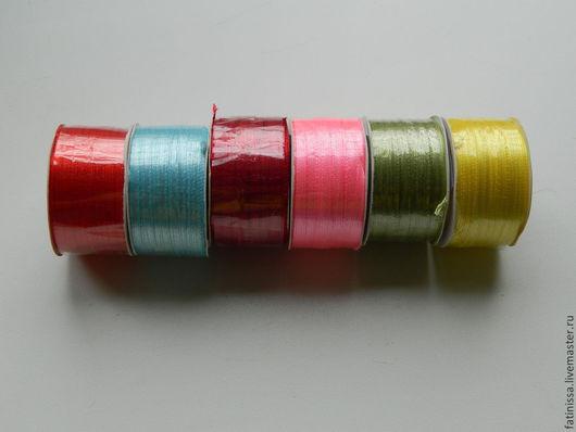 Шитье ручной работы. Ярмарка Мастеров - ручная работа. Купить Лента атласная 3 мм в ассортименте. Handmade. Лента