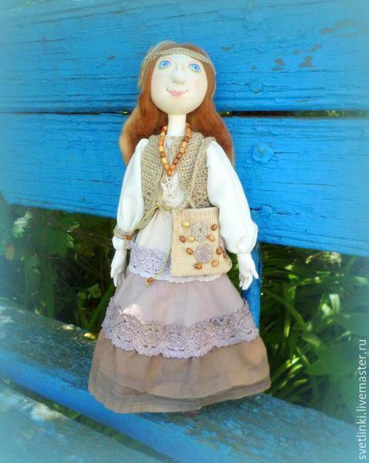 Кукла бохо текстильная тыквоголовка. Светлинки от Даши. Ярмарка мастеров.